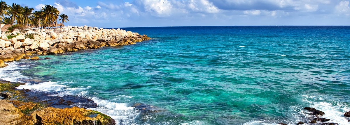 scenic view of the coast of cozumel