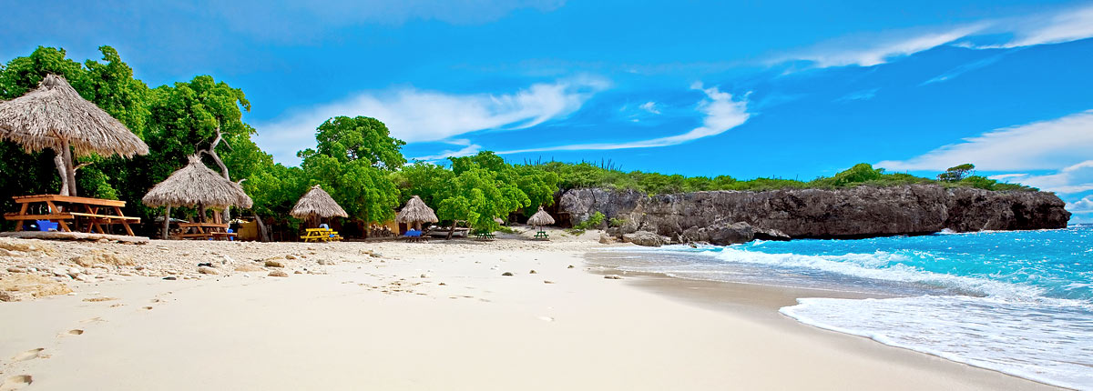 relax on the white sand beaches of curacao