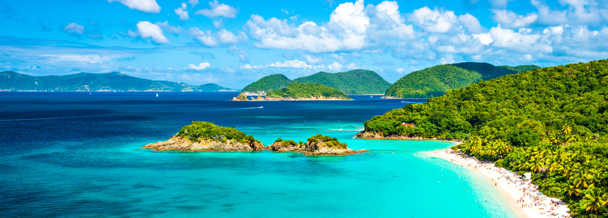 view of Trunk Bay in St. John