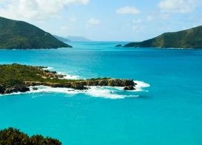 take in views of tortola's blue waters