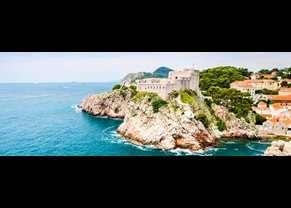 historic fort on cliff in dubrovnik