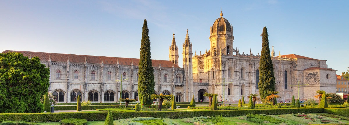 View of the Jeronimos Monastery in Lisbon, Portugal