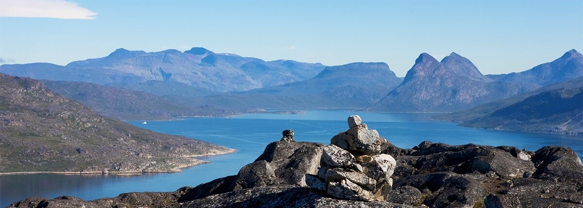 greenland tundra rocks and mountains
