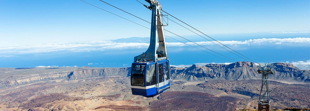 cable car ride to mt. teide