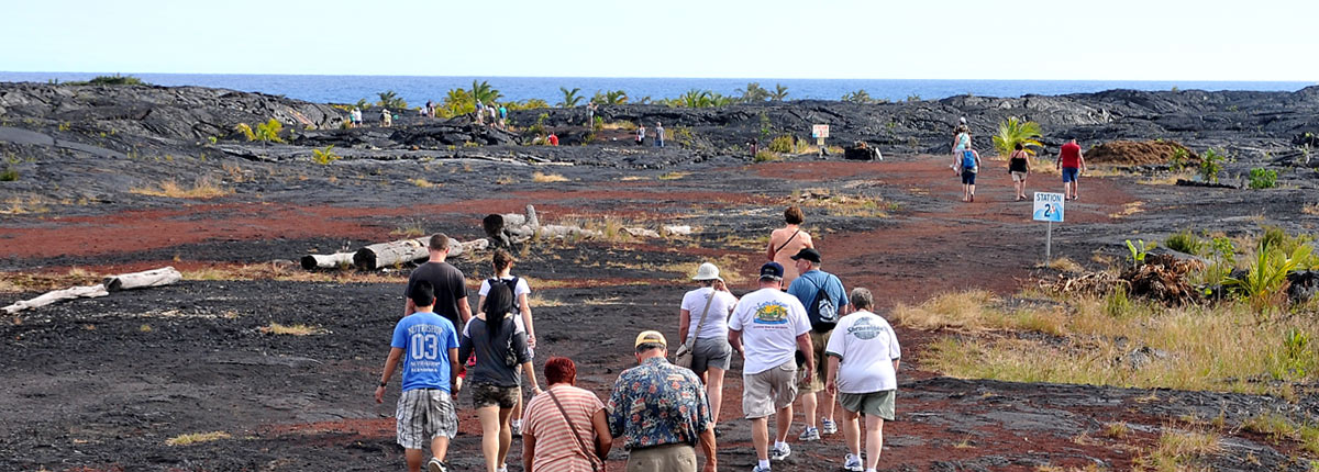 walking excursion on hilo volcano