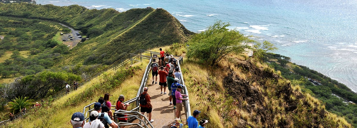 take a tour of the hawaiian hills bordering the ocean