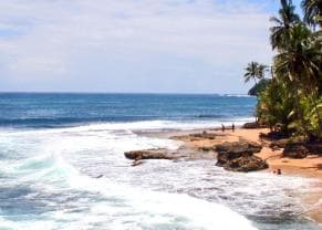 scenic shot of the caribbean coast at manzanillo