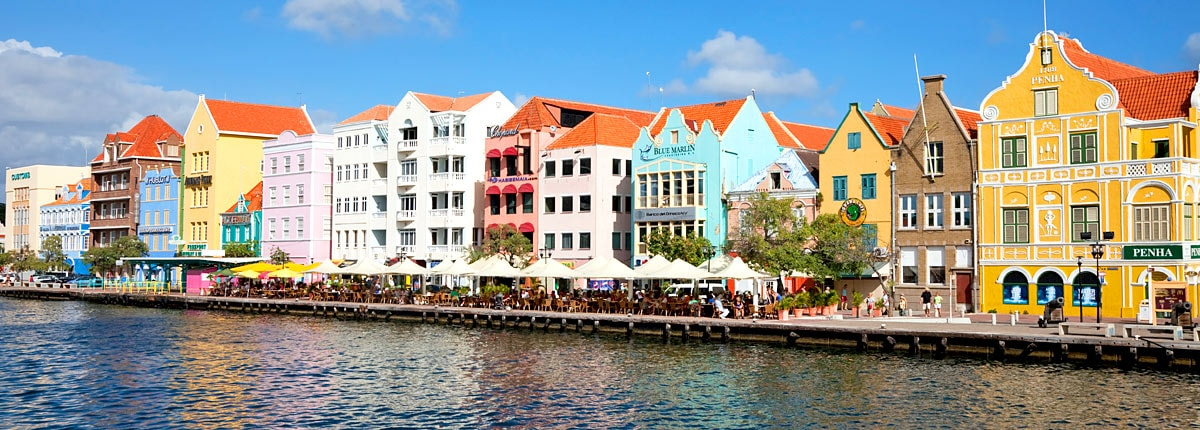 dine and shop along the waterfront of curacao
