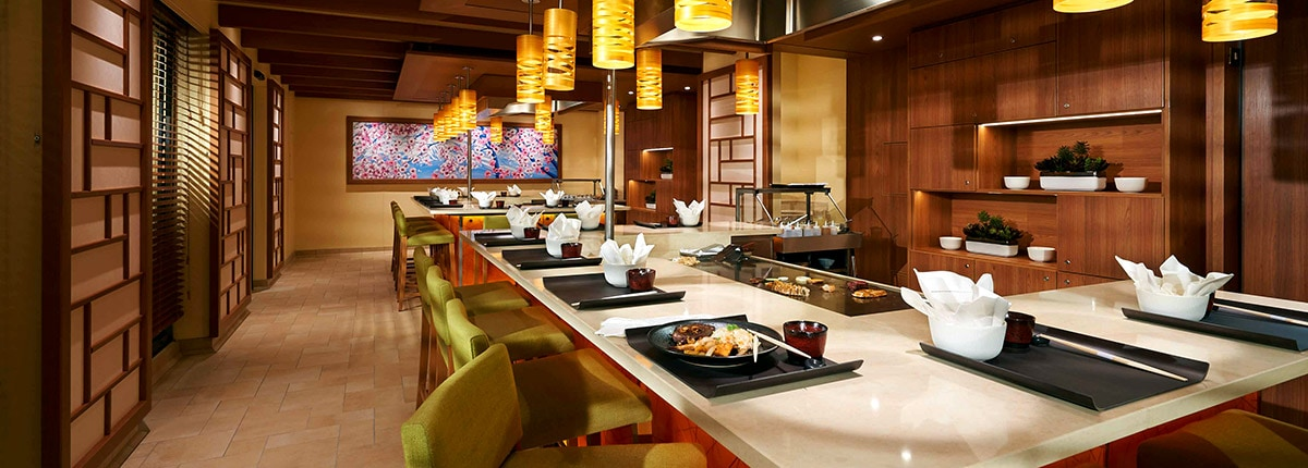 interior view of bonsai teppanyaki