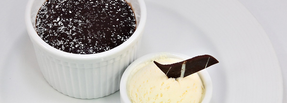 Enjoy Carnival's Warm Chocolate Melting Cake, also available gluten-free.