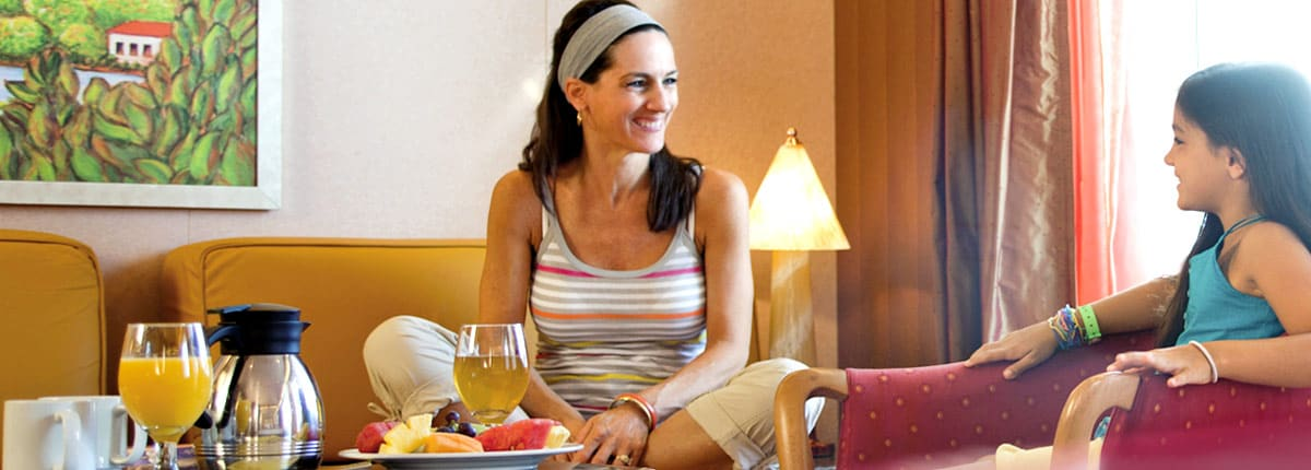 Enjoy 24-hour room service with Carnival Cruise Line