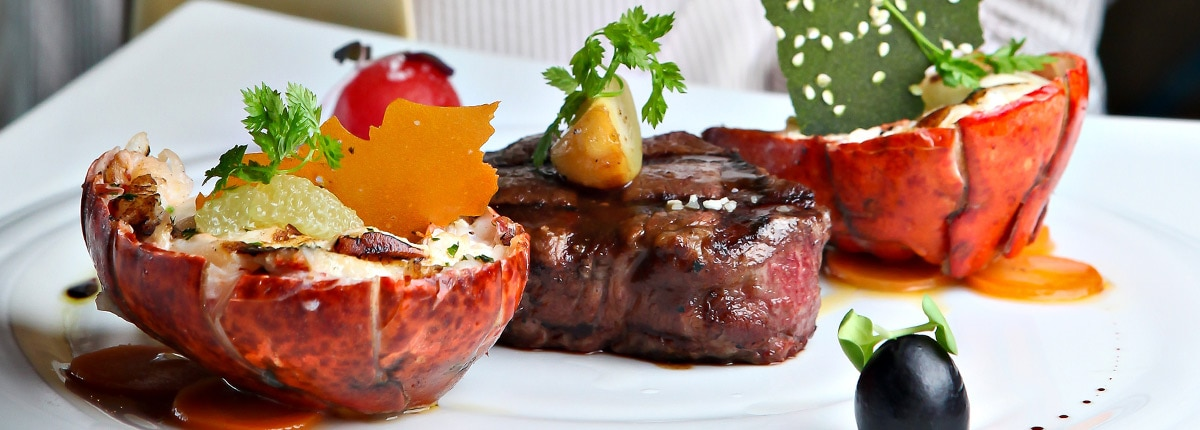 enjoy premium quality steaks and seafood