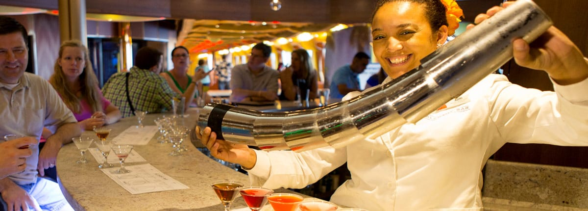 enjoy a martini tasting on carnival cruises