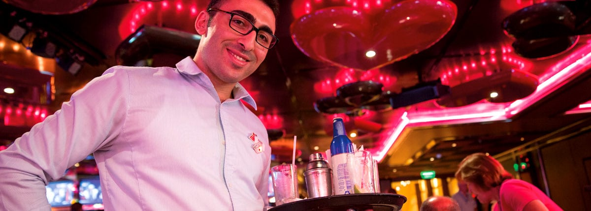 your drink is served with a smile at the casino bar