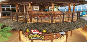 rendering of redfrog tiki bar