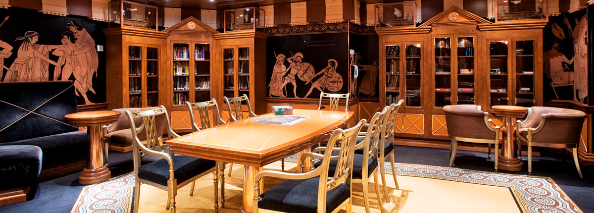 Every Carnival ship features an onboard library