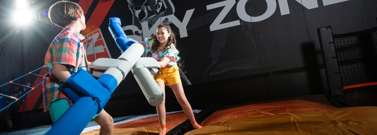 children playing at skyzone