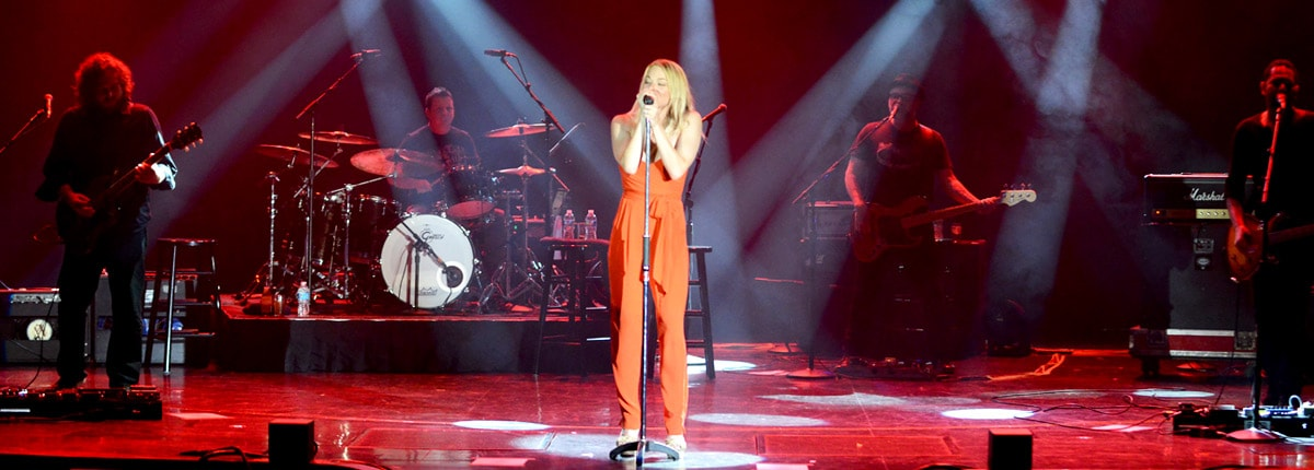 LeAnn Rimes performing during Carnival LIVE
