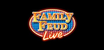 family feud live logo with carnival choose fun logo