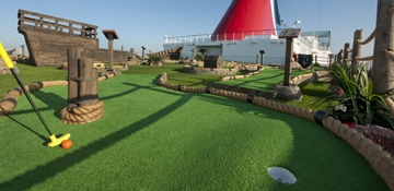 mini golf on a cruise