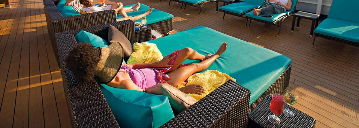 guests sunbathing at the serenity adult only retreat