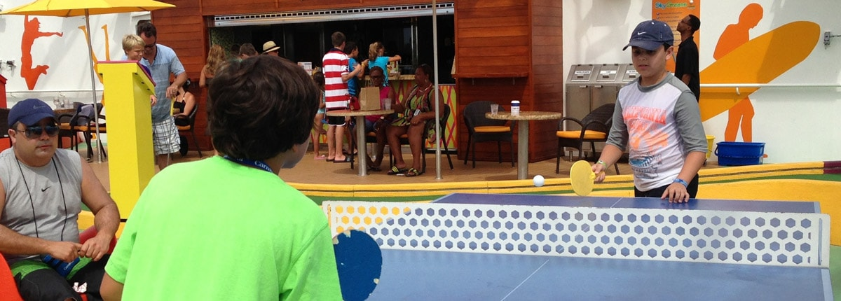 ping pong on carnival cruise ships