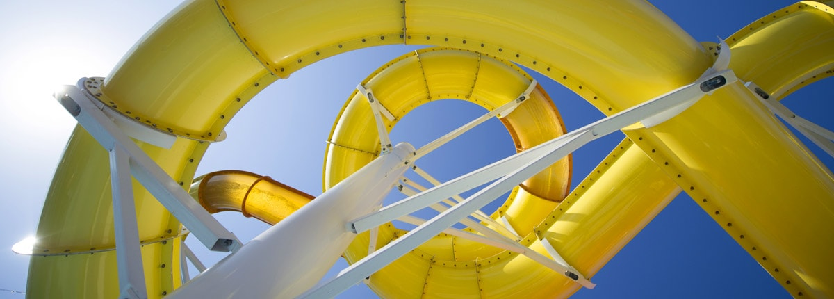 yellow twister waterslide