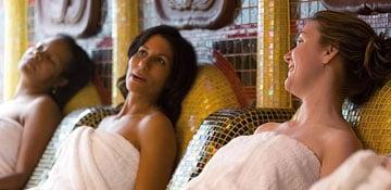 three women enjoying spa carnival