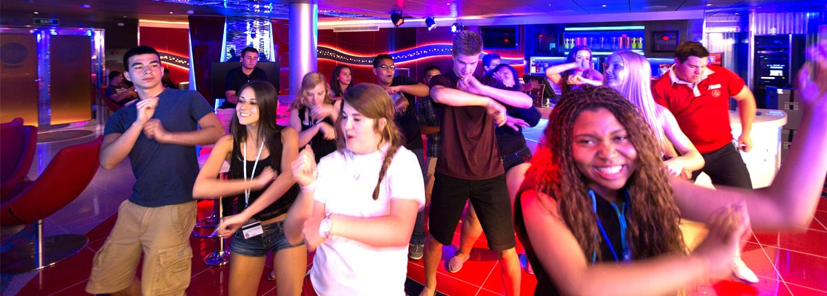 Club O Onboard Spot For Teens Carnival Cruise Line - Best cruise ships for teens