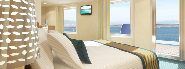 Breathtaking view from balcony stateroom