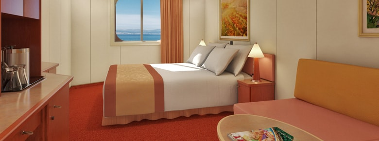 Ocean view cruise stateroom