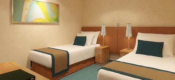 Interior cruise stateroom