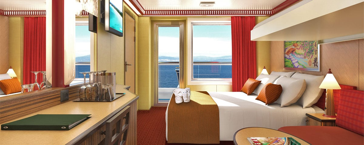 Cruise ship rooms cruise staterooms accommodations for Balcony on carnival cruise
